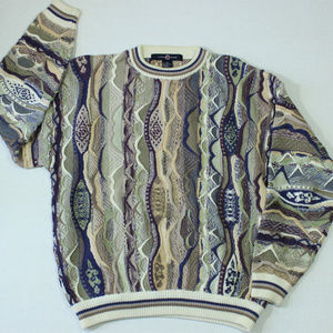 Vintage Cotton Traders Coogi Like Sweater Brown
